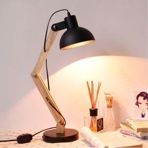 Lampe de bureau noir processus de peinture blanc 1 lumière style moderne simple