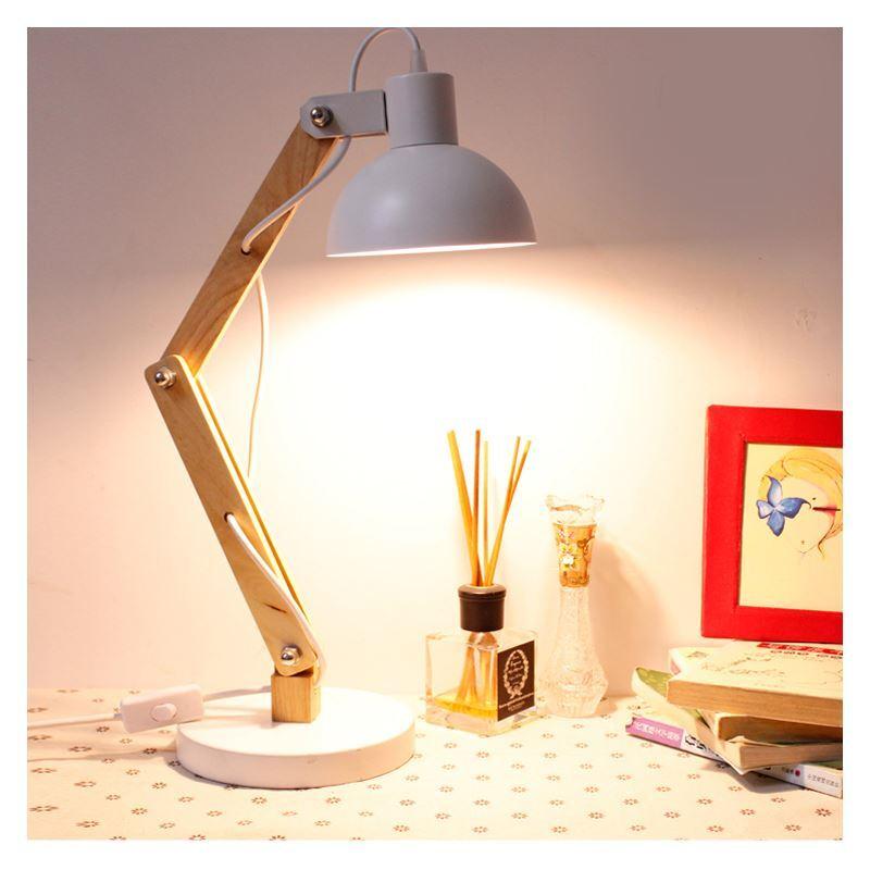Lampe de bureau noir processus de peinture blanc 1 lumière