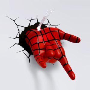 Applique murale LED 3D créative forme la main de Spiderman