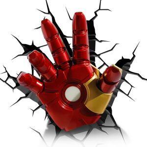 Applique murale LED 3D créative forme de la main de IronMan