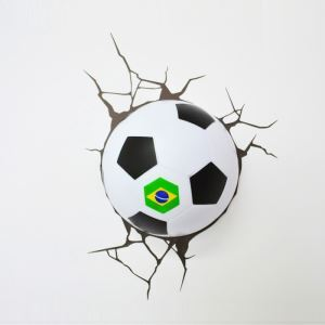 Style moderne simple mode LED 3D Applique murale créative forme football de Brésil Coupe du Monde