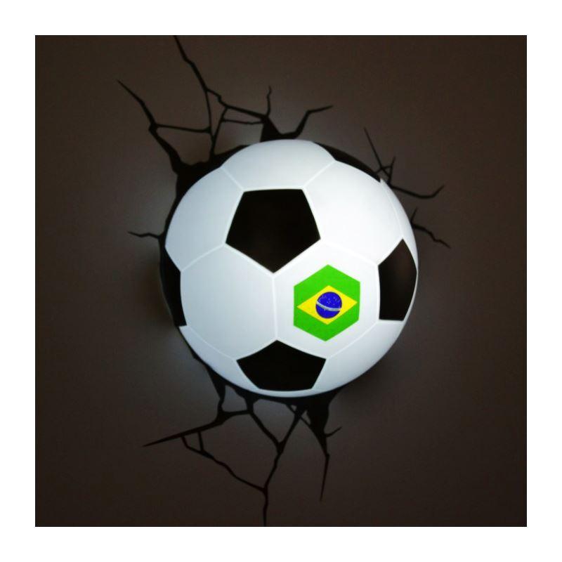 Murale Style Lampe Applique De Coupe 3d Moderne Créative Football Simple Du Brésil Mode Forme Monde Led iPZkXu