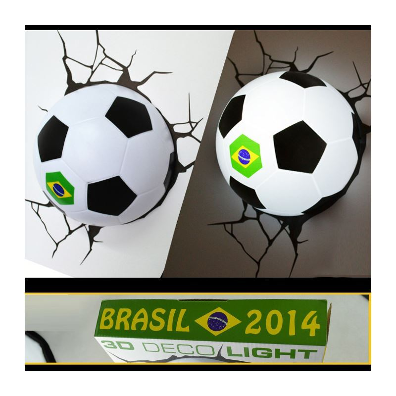 De Simple Football Style Murale Applique Moderne Forme Coupe Du Créative Monde 3d Lampe Led Mode Brésil n8wOk0PX