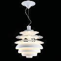 (Entrepôt UE) 60W contemporain aluminium lustre pendentif lampe en blanc
