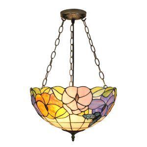 Suspension luminaire en verre à motif de papillon et fleur pour salon chambre salle à manger cuisine