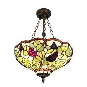 Suspension luminaire en verre couleur à motif des raisins pour salon chambre salle à manger cuisine