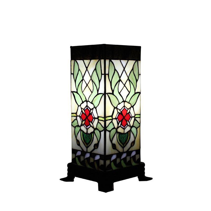 À Lampe Restaurant En Tiffany Luminaire Chambre Poser Coloris Pour Coucher Verre Rectangle Salon FKlcT1J3