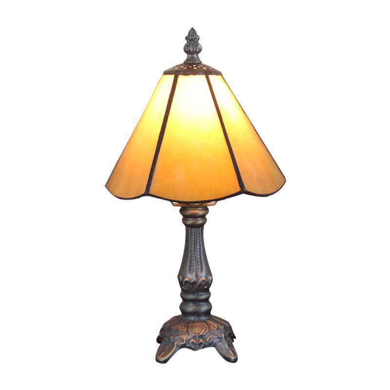 Luminaire Chambre Lampe Coucher Salon À Restaurant Verre En Tiffany Poser Jaune Pour eCdxBo
