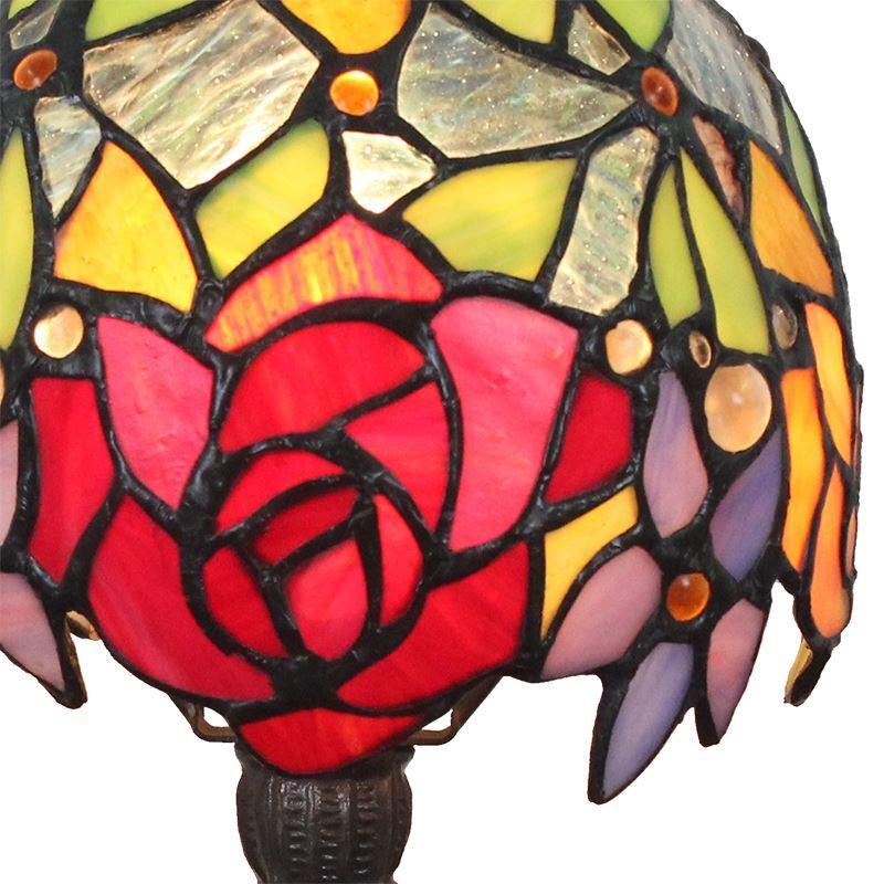Lampe poser en verre tiffany motif fleur coloris luminaire pour chambre coucher salon - Lampe pour chambre a coucher ...