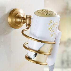 Porte-sèche-cheveux en cuivre rétro accessoires pour salle de bain