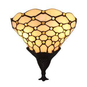 Applique tiffany vintage perles de cristal grille L30cm luminaire pour cuisine chambre salon