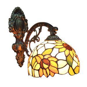 Applique intérieur tiffany vintage à motif de tournesol luminaire pour cuisine chambre salon