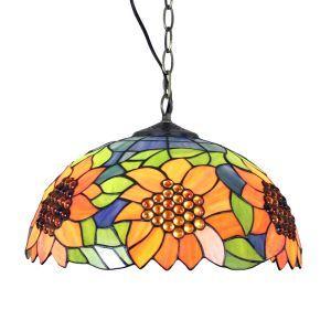 Suspension en verre tiffany à motif tournesol luminaire pour chambre salon cuisine chambre