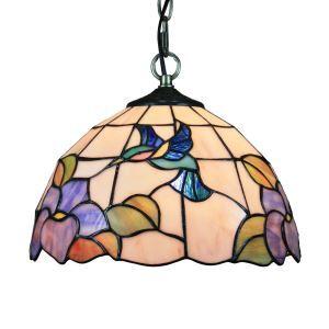 Suspension à motif abeille et fleurs en verre tiffany luminaire pour chambre salon cuisine chambre