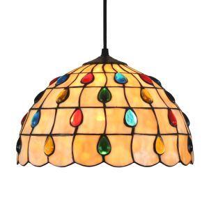 Suspension à motif gouttes de pluie colorées en verre tiffany luminaire pour chambre salon cuisine chambre