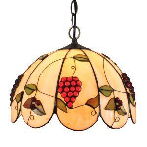 Suspension à motif raisin en verre tiffany luminaire pour chambre salon cuisine chambre