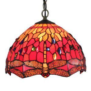 Suspension à motif libellule en verre tiffany luminaire pour chambre salon cuisine chambre