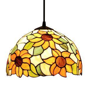 Suspension en verre tiffany fleur luminaire pour chambre salon cuisine chambre