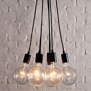 Lustre 60W E27 Lampe pendentif de minimaliste avec 7 lampes