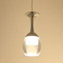 Suspension lumière verre à vin 3W LED de lustre de tasse pour le salon bar salon salle à manger