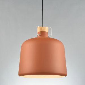 (Entrepôt UE)Suspension lustre simple européen kaki lampe luminaire design pour cuisine chambre salle à 1 lampe