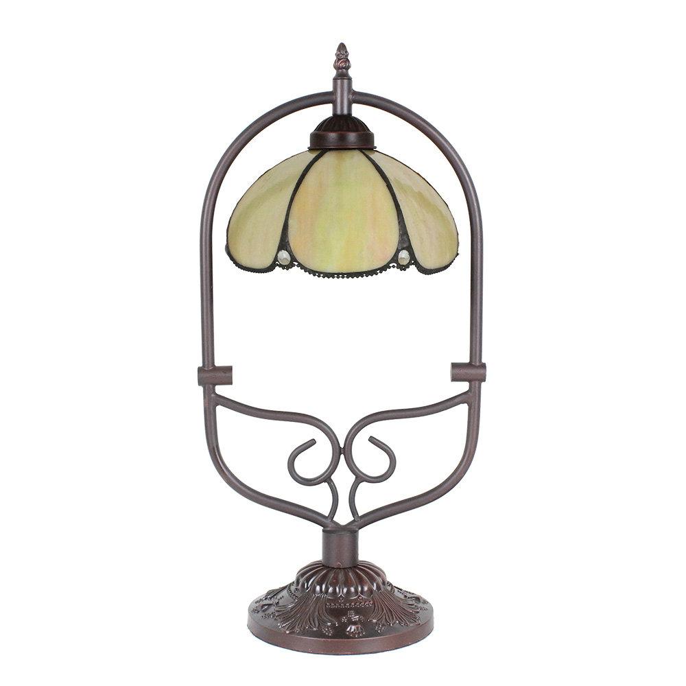 Lampe A Poser Tiffany Pour Chevet Vintage Cambre Jaune Clair