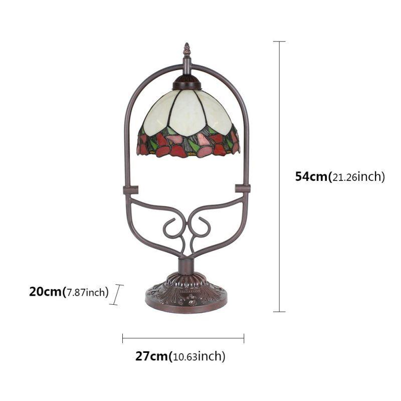 À Bord Chevet Lampe Vintage Rouge Poser Tiffany Luminaire Motif Chambre Cuisine Pour Cambré Salon yN8wnPvm0O