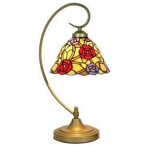 Lampe à poser rétro pour chevet vintage base de paon en
