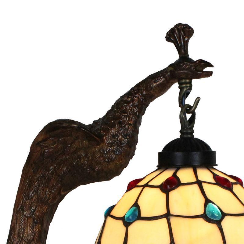 Pour Résine À Perles Chambre De Paon Cuisine Poser Vintage Salon Tiffany Chevet En Lampe Colore Luminaire Base bf6gy7