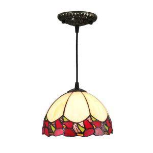 Suspension vintage en verre tiffany colore luminaire chambre salon cuisuine salle à manger