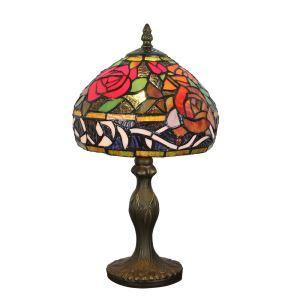 Lampe à poser tiffany pour chevet vintage base en résine fleurs colore luminaire chambre salon cuisine