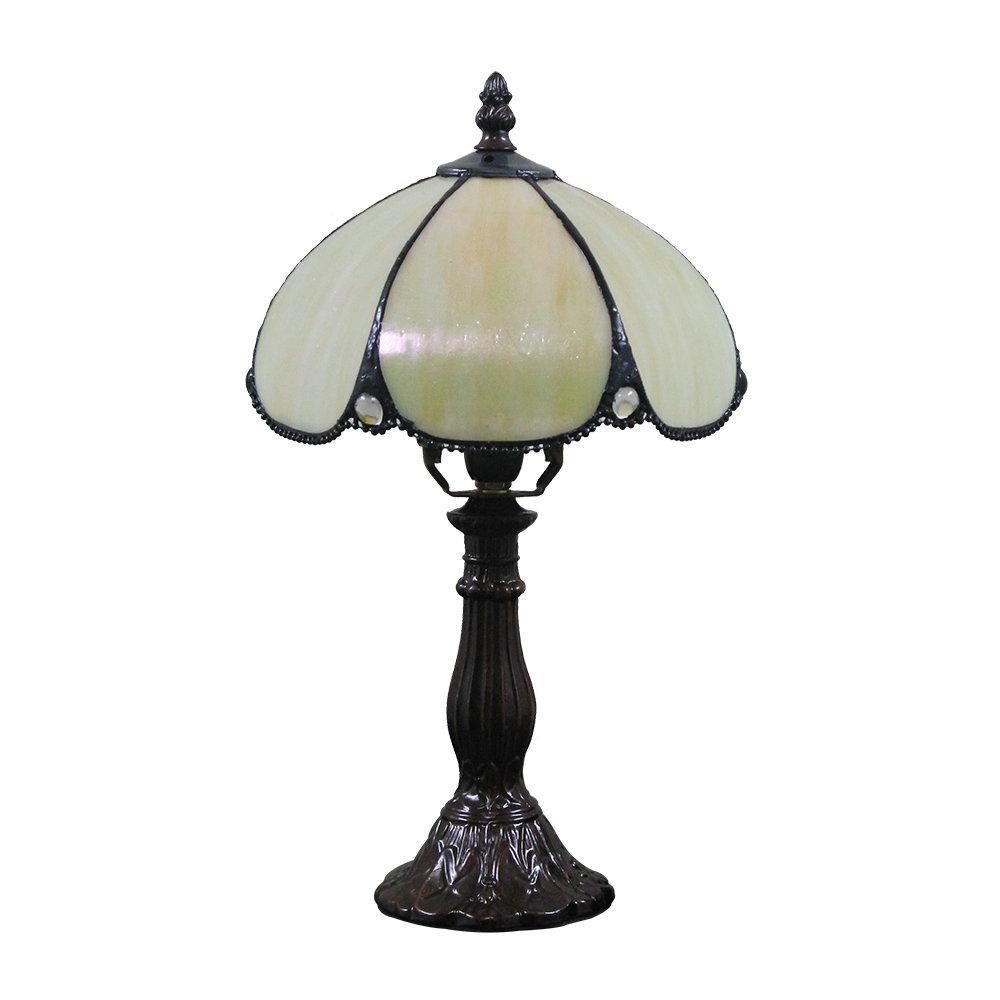 Lampe A Poser Tiffany Pour Chevet Vintage Base En Resine