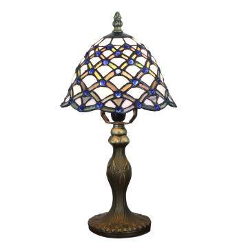 Cuisine À Motif Résine Poser Lampe Chambre En Bleu Salon Chevet Luminaire Base Colore Vintage Perles Pour Tiffany 7yf6gbY