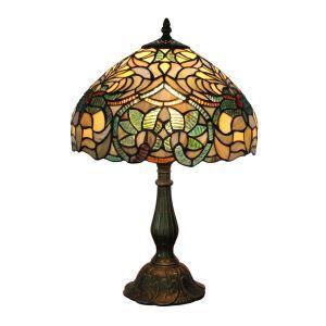 Lampe à poser en verre tiffany pour chevet table en verre D30*H48cm plante luminaire pour salon cuisine chambre