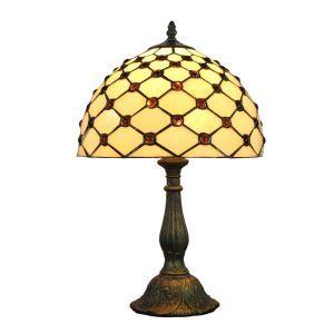 Lampe à poser en verre tiffany D 30 cm luminaire pour salon chambre