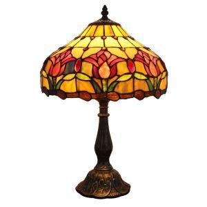 Lampe à poser en verre tiffany D 30 * H 48 cm pour chambre