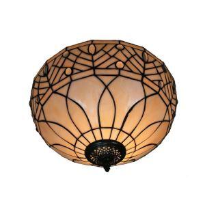 Plafonnier en verre tiffany feuille luminaire pour salon cuisine chambre