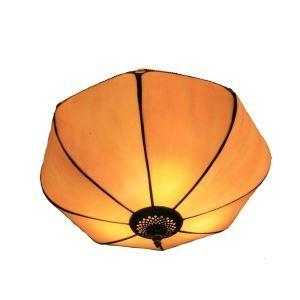 Plafonnier en verre tiffany parapluie luminaire pour salon cuisine chambre