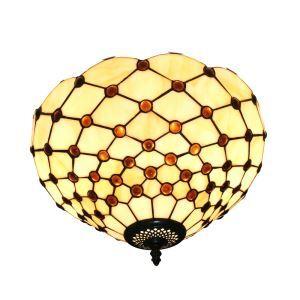 Plafonnier en verre tiffany luminaire pour salon cuisine chambre