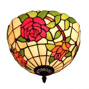 Plafonnier en verre libellule rose luminaire pour salon cuisine chambre