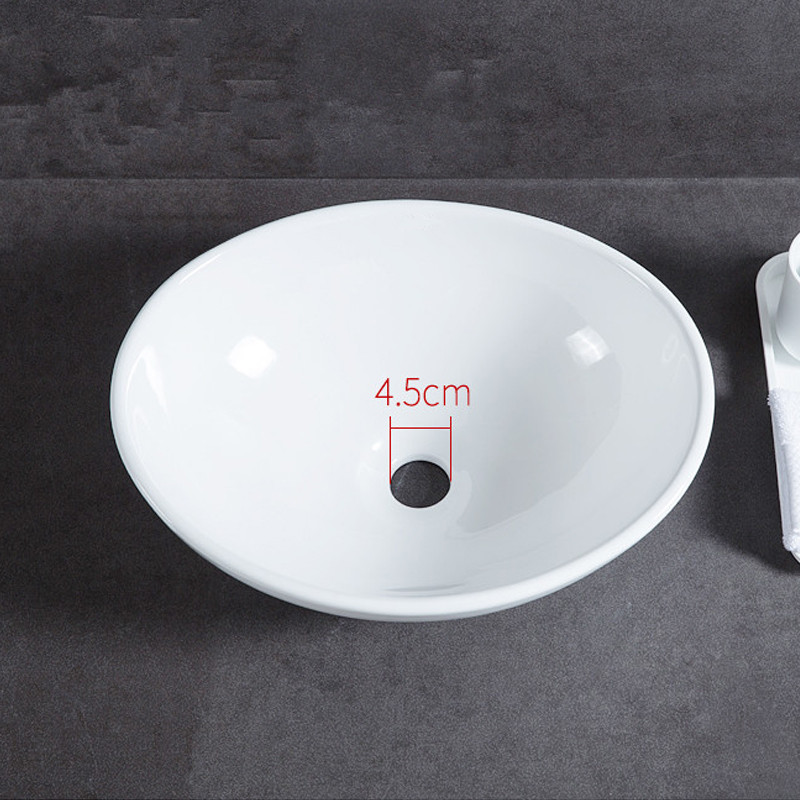 Vasque à Poser Céramique D 41 Cm Blanc Ovale Pour Salle De