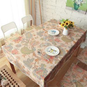(Entrepôt UE) Village imperméable cru nappes en dentelle de cercle littéraire occidental café table rectangulaire tissu