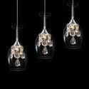 (Entrepôt UE) LED Crystal Mini Pendantif Three Lumière