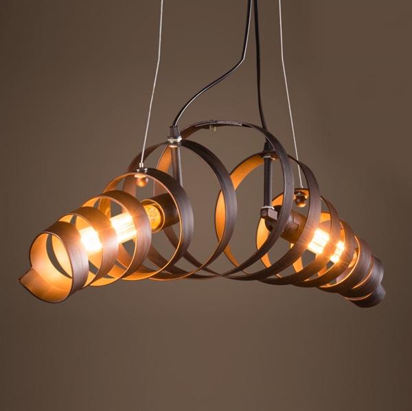 Suspension en fer style industriel rétro minimaliste