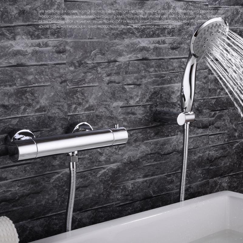 Robinet de douche pour salle de bain chromé style moderne ...