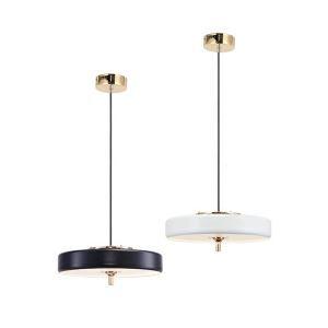 Suspension lustre à 1 lampes d'or rond pour chambre restaurant café style moderne