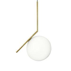 Suspension lustre à 1 lampes d'or rond D20cm pour chambre restaurant café style moderne