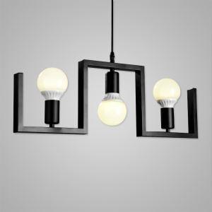 Suspension à 3 lampes en fer rétro lampe pour café bar salle restaurant