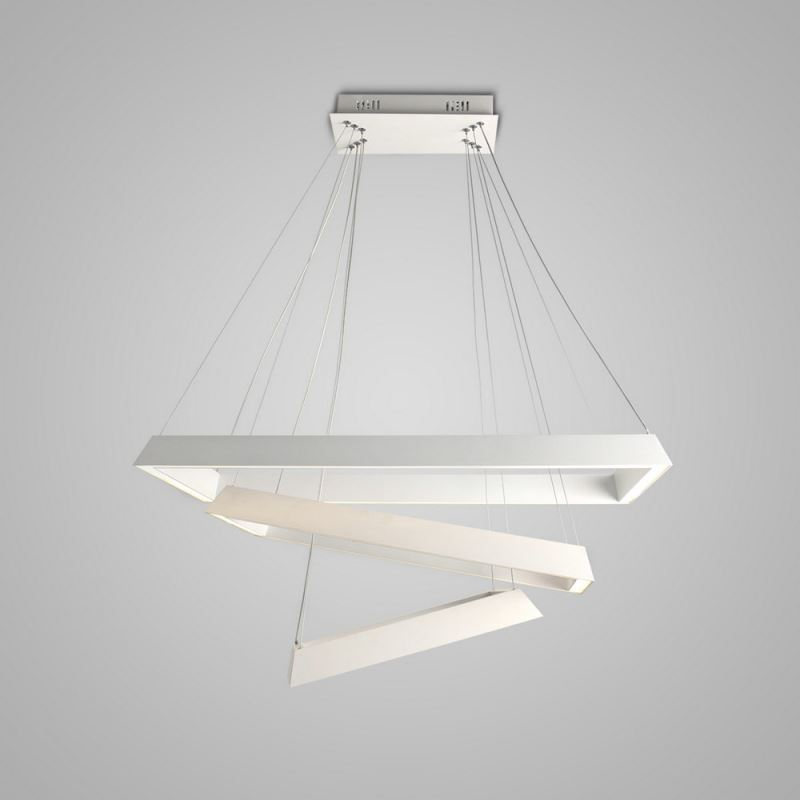 Suspension LED blanche à 3 couches blanche lampe pour chambre salle ...