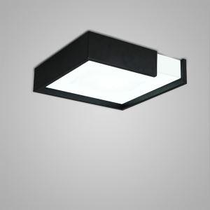 Plafonnier LED lampe de plafond pour salle à manger chambre luminaire carré design style simple moderne à 2 modèles